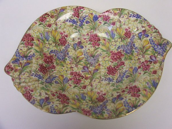 723: A Royal Winton Chintz Ware Shaped Fruit Bowl.