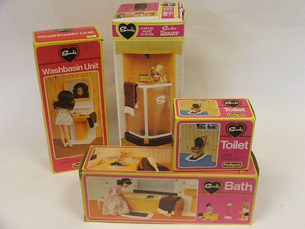 Sindy Shower, bath, toilet, washbasin unit, in ori