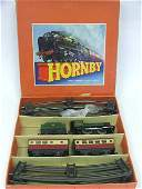 823: A Boxed Hornby O Guage Clockwork Train Passenger S