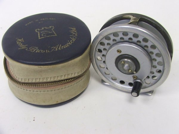 915: A Hardy Fishing Reel in case, the Marquis No. 6