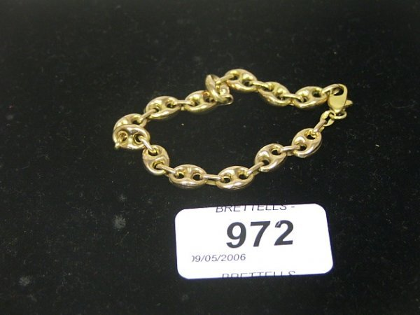 972: A 9ct Yellow Gold Anchor Chain, 7.9g