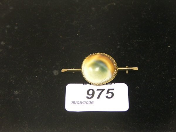 975: A 9ct Yellow Gold Antique Brooch, 9.8g