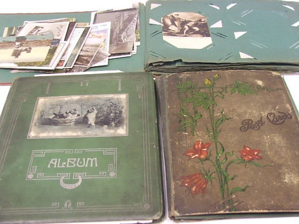 1031: A Collection of three postcard albums containing
