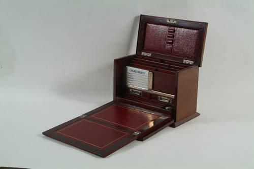 5: A Nice Quality Edwardian Inlaid Mahogany Folding Wri