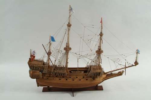 7: A Detailed Model of a Galleon, 66 cm high