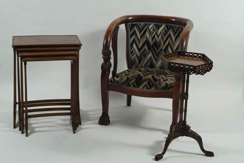 22: A Very Pretty Chippendale Style 19th Century Mahoga
