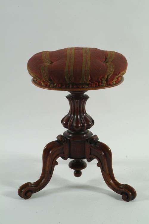 24: A Victorian Walnut Revolving Piano Stool