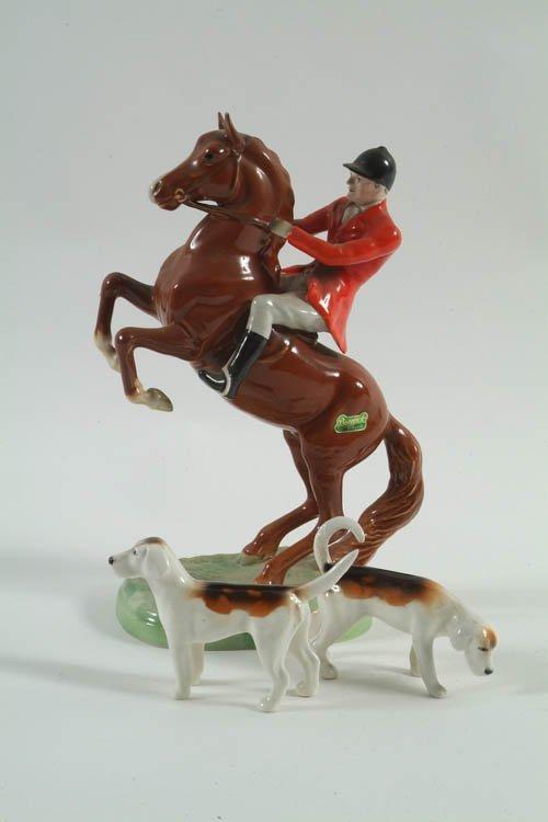 273: A Beswick Model of a Huntsman on Rearing Horse, St