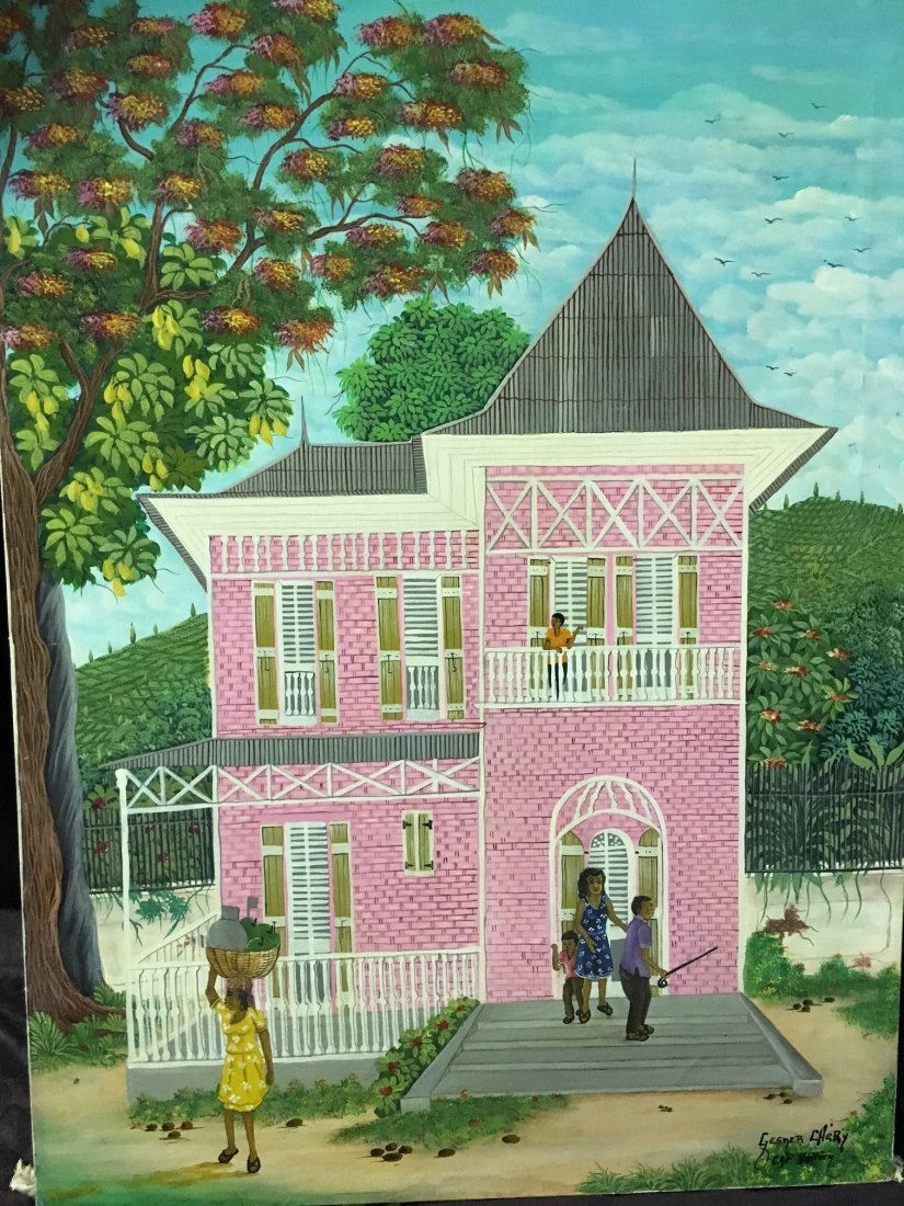 An Oil on Canvas Haitian painting by Chery
