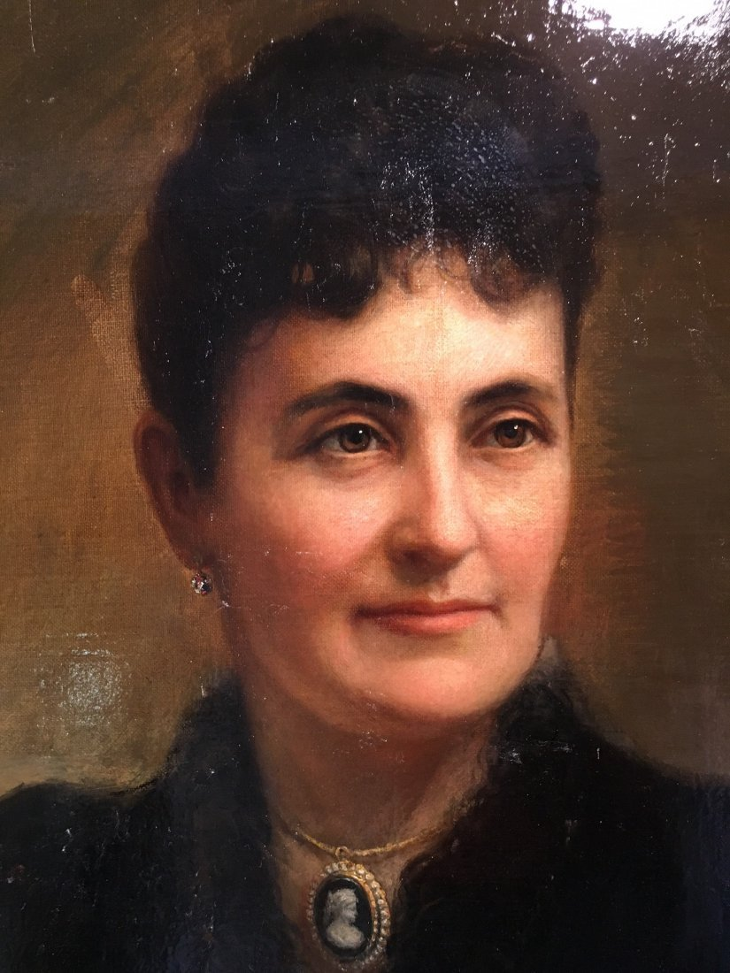 Oil on board Portrait painting by Theodore Pine