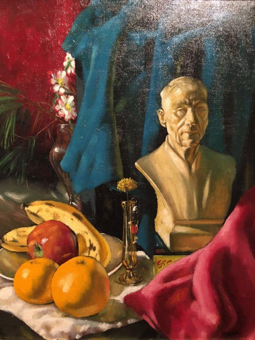 R Gagnon Oil on cavas still life