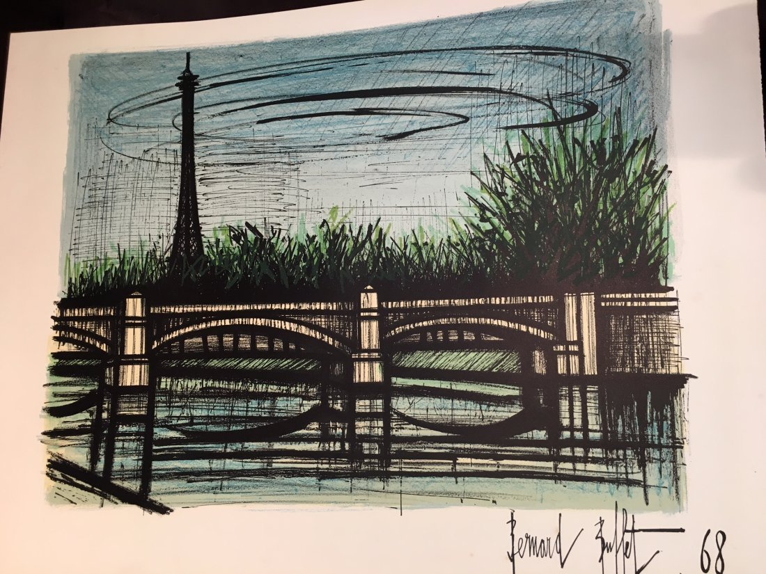 Bernard Buffet  Paris scene Litho - 7