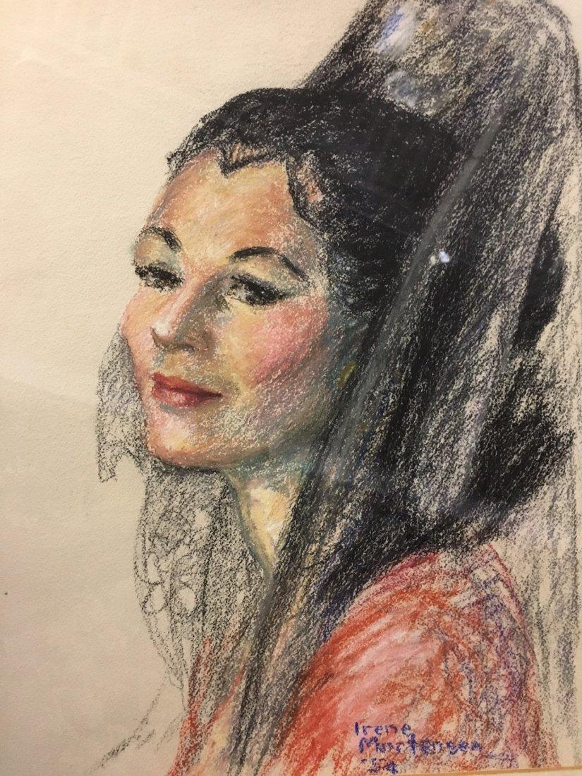 Irene Mortensen pastel portrait