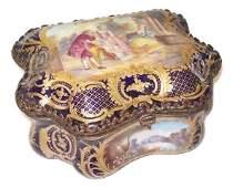Antique French Sevre jewleray box