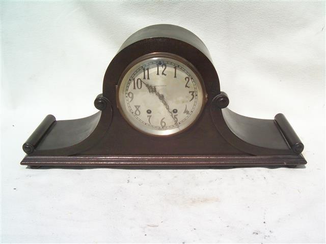 Antique Set Thomas Mantle Clock