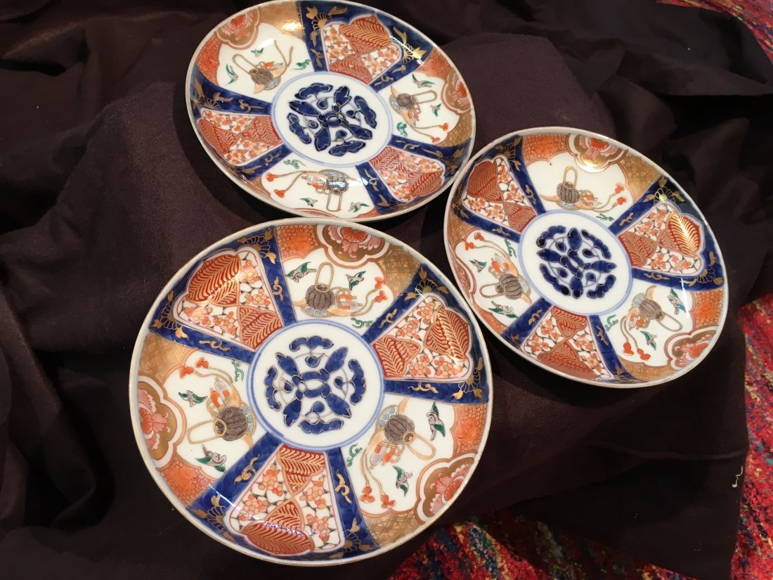 Collection of three Imari Japanese plates