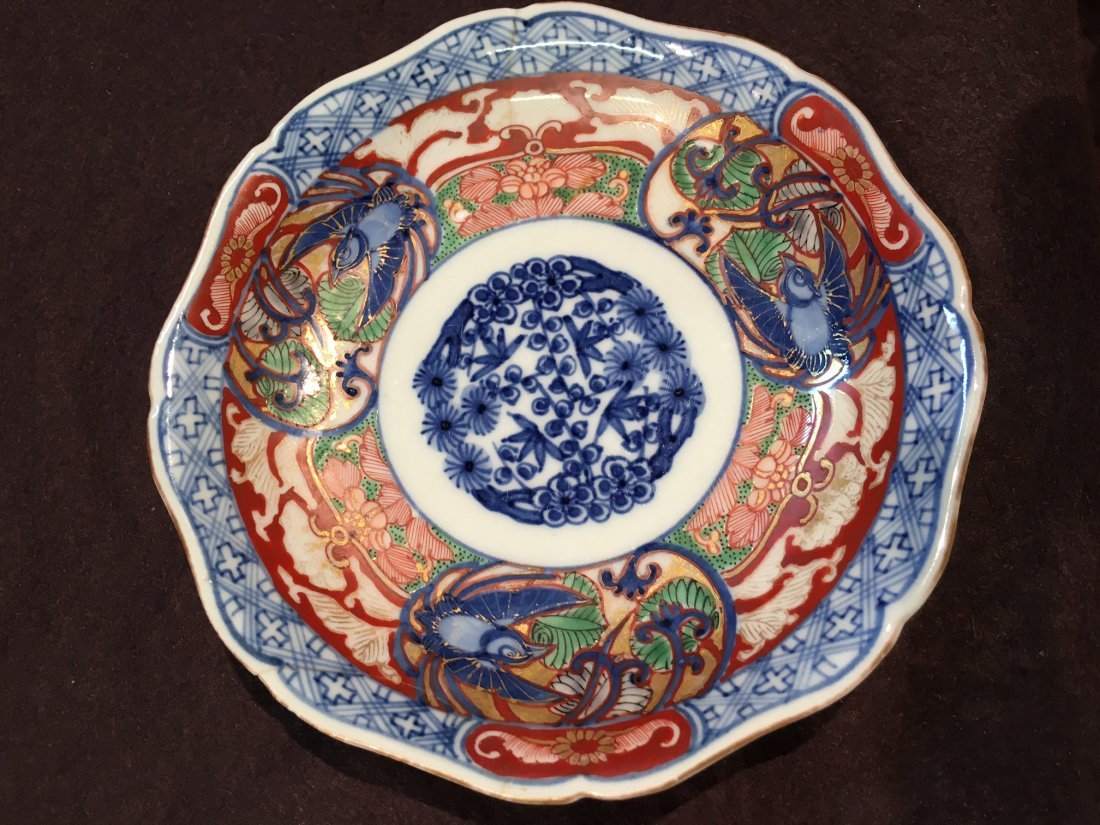 An important small signed Japanese Imari plate