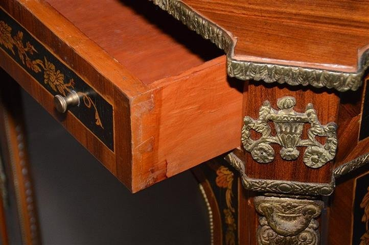 A French hand painted Marquetry style cabinet - 2