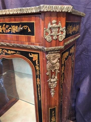 A French hand painted Marquetry style cabinet - 3