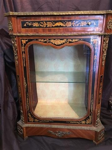 A French hand painted Marquetry style cabinet - 4