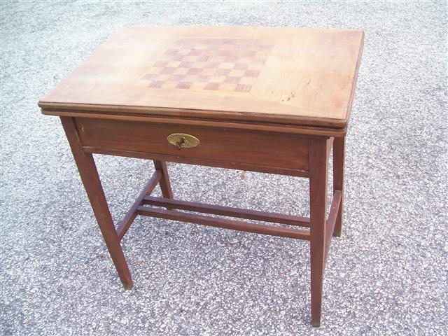 Important Antique European Game Table