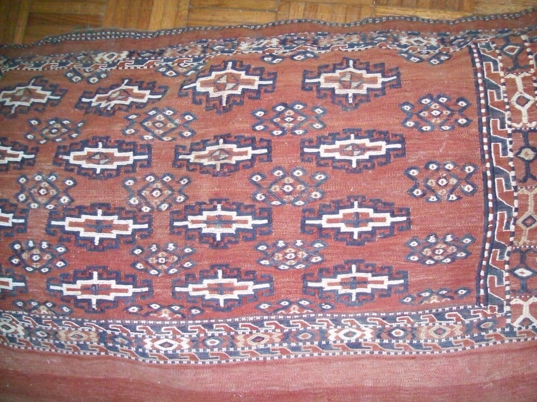 Antique Turkmen / Turkoman Sumac saddle bag Cushion