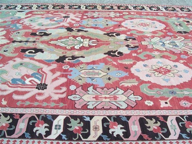 Palace size Hand Woven SUMAC RUG 12.3 BY 18.1