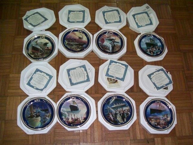Collection of 8 Titanic limited edition plates