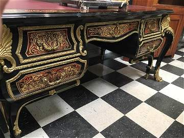 Important Boulle bronze mounted Louis XIV style desk