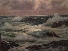 Ladislas M Nagy oil on canvas seascape painting