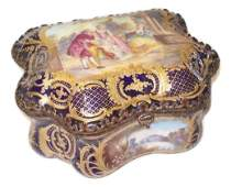 Antique French hand painted porcelain Sevres box