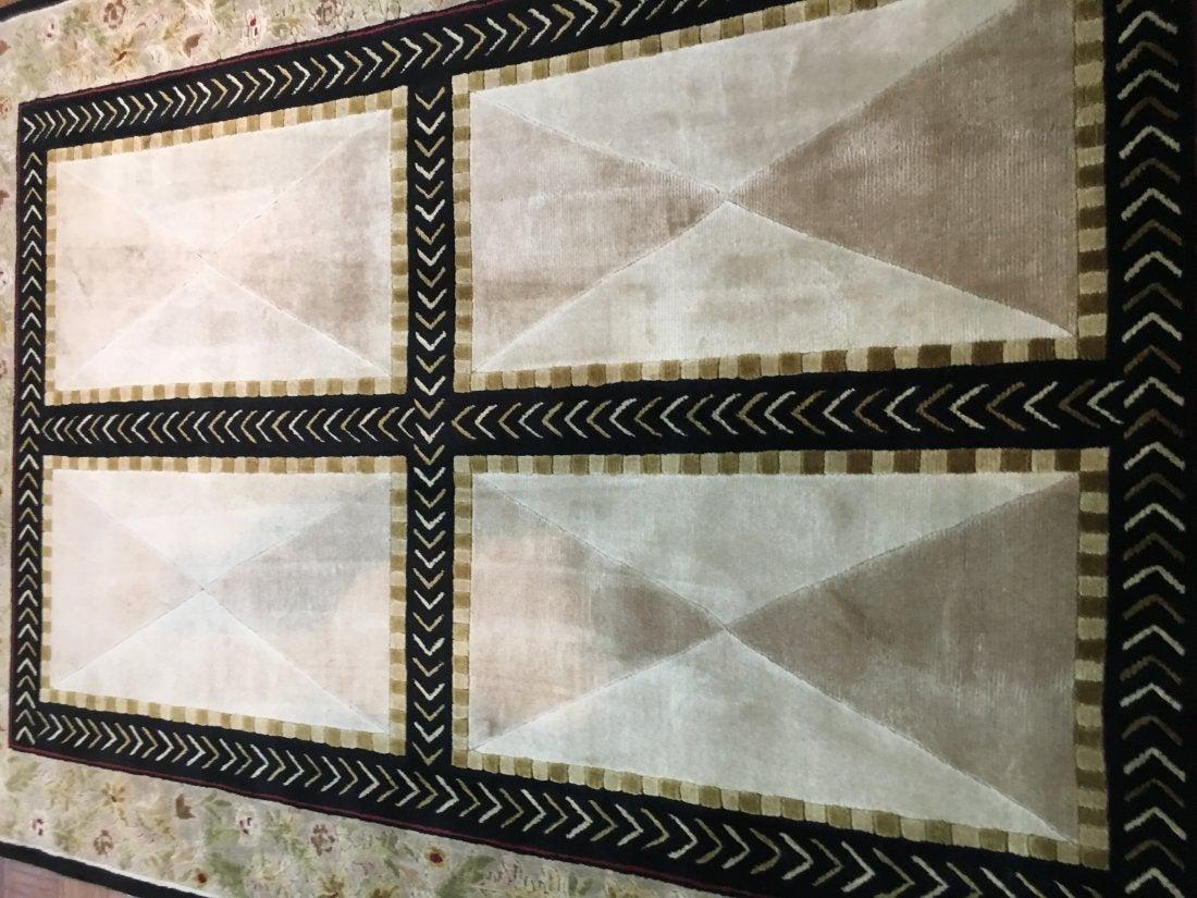 A Hand woven Tibetan contemporary rug