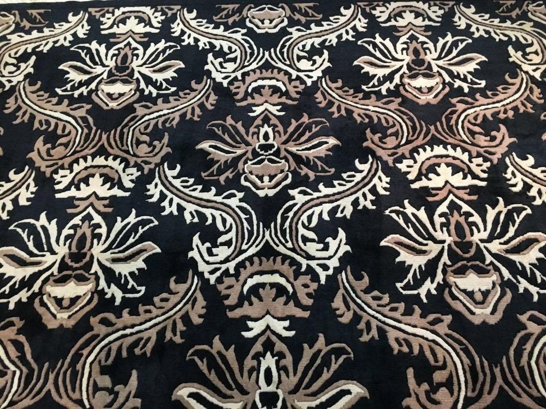 A handwoven Tibetan Contemporary wool rug