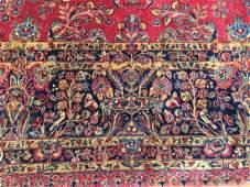 Antique Signed Persian Kashan carpet