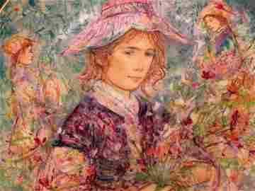 Edna Hibel Flower Girl Of Provence Commemorative Hutsch