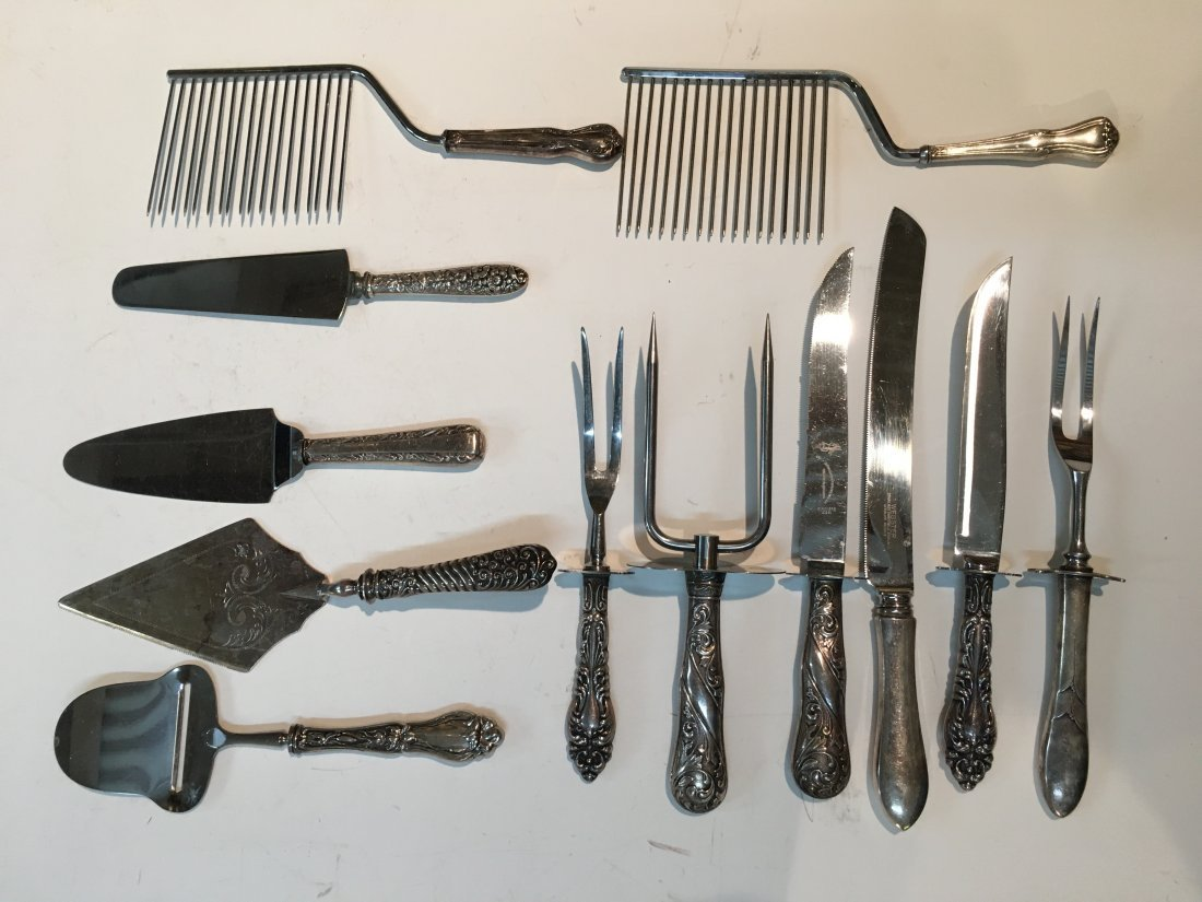 Collection of 12 Sterling silver Handle Flatware