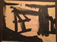 After Franz Kline ink on paper art work