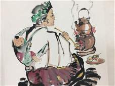 A Chinese scroll ink on paper painting ID  D