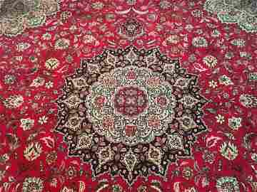 A fine Persian Tabriz square rug