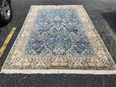 Fine silk & wool Persian Nain signed Habibian rug