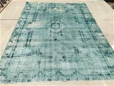 Overdyed Hand Knotted Wool Persian Rug