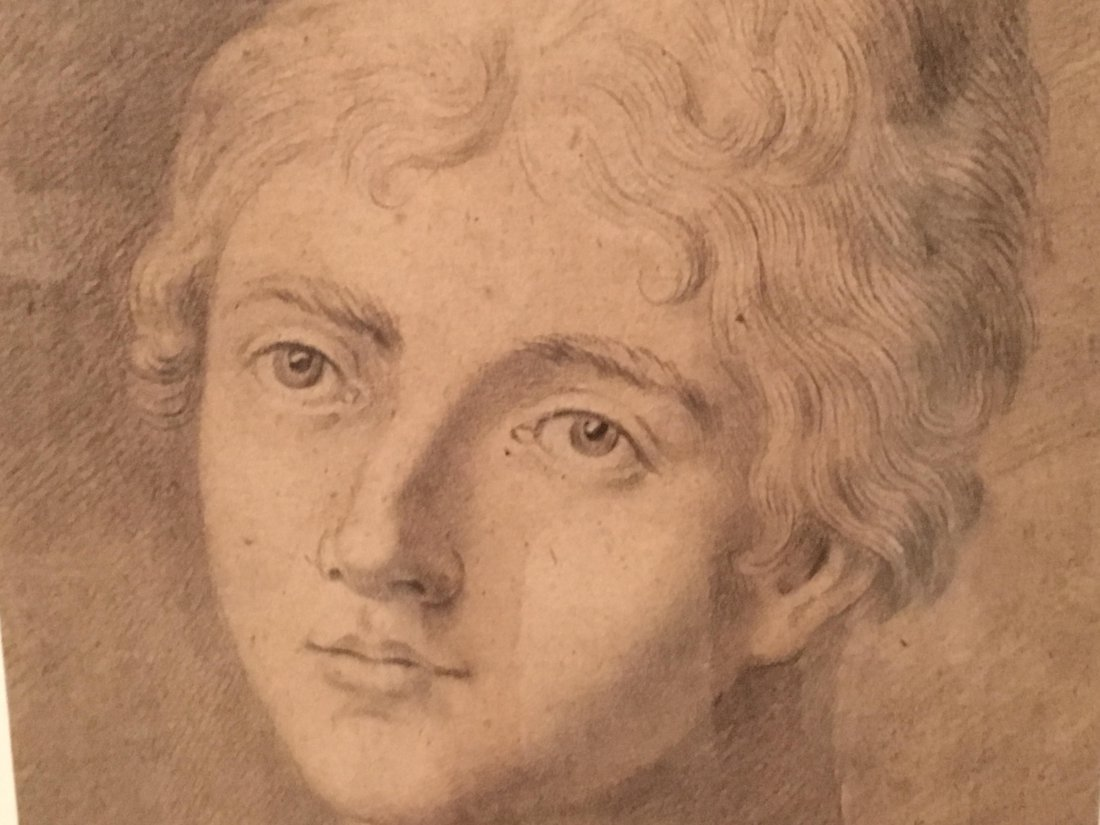 Simeon Solomon (British, 1840-1905) charcoal drawing