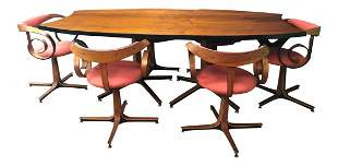 George Mulhauser Mid century dinning set SULTANA chairs