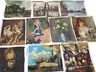 Group of 10 Giclee art work Canvas prints