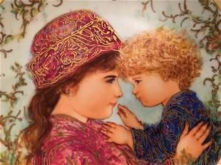 Edna Hibel plate titled Sarah & Tess