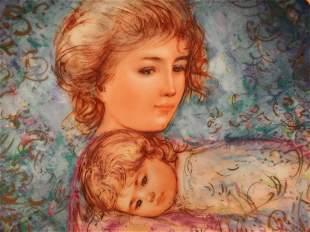 Edna Hibel plate titled Abby & Lisa