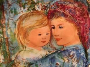 Edna Hibel plate titled Michele & Anna
