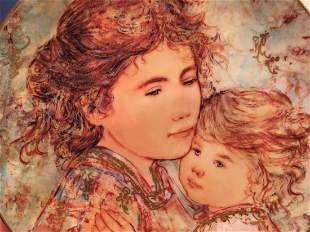 Edna Hibel plate titled Cora & Linda