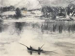 Clement Haupers charcoal drawing on paper