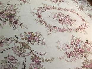 A handwoven Aubusson Tapestry rug